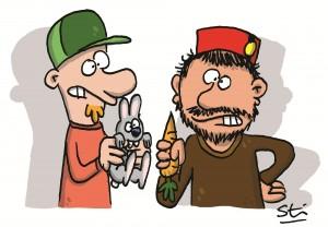 Caricature de Sti et Cromheecke