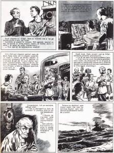 Ultimul val de Ion Hobana -desene Radu Duldurescu- anul publicarii 1958- in revista Cravata Rosie