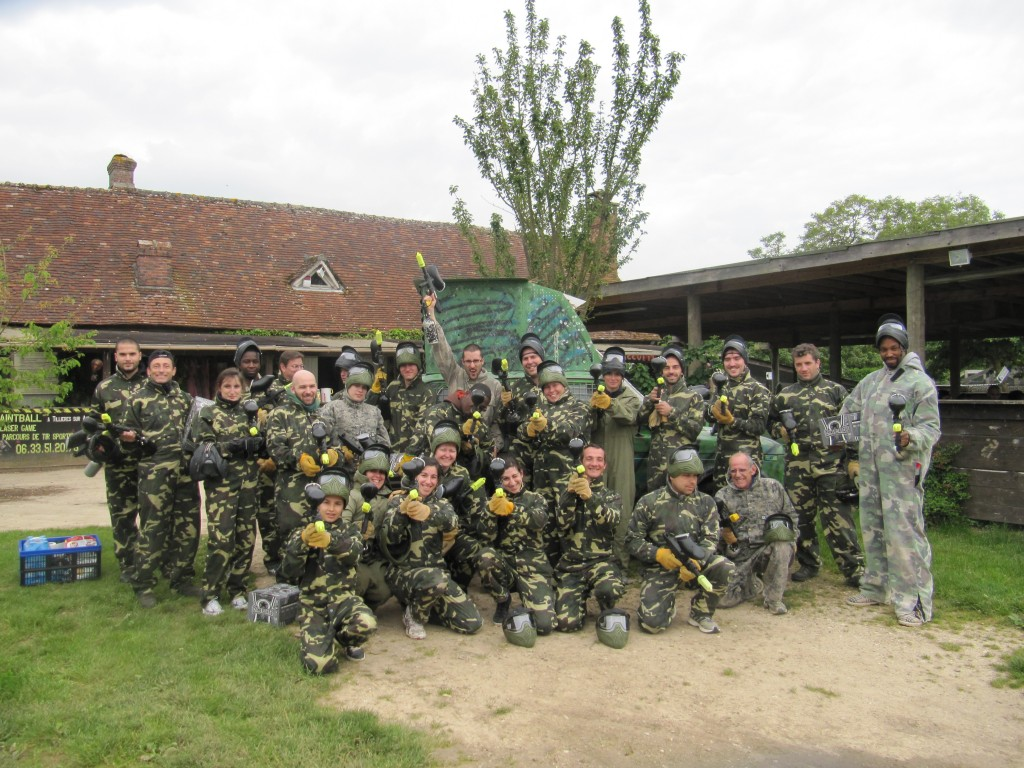 Photo de groupe paintball