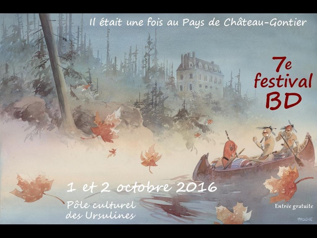 Affiche de Patrick Prugne pour festival BD de Château-Gontier
