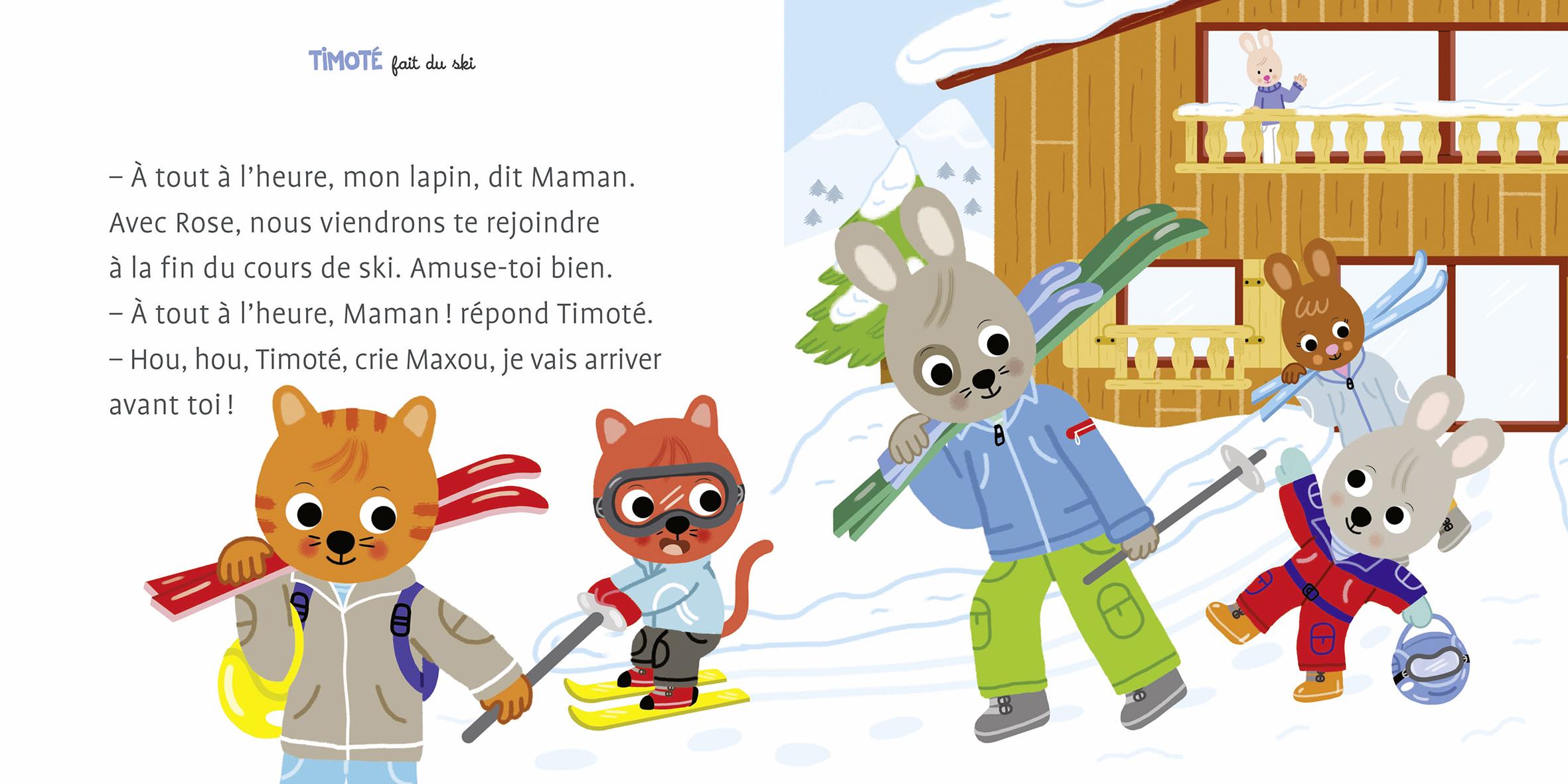 timoté fait du ski planche 1