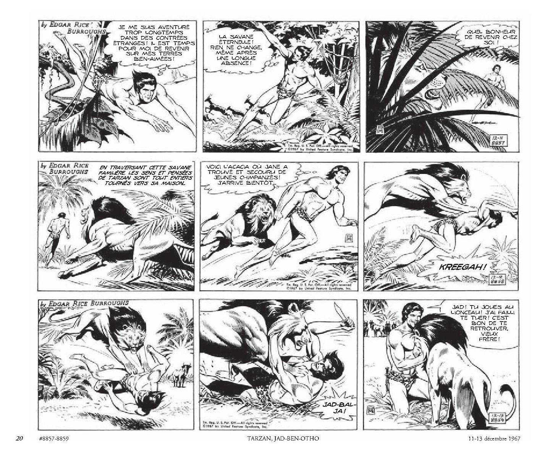 Tarzan _ intégrale Russ Manning newspaper strips _ Tome 1, 1967-1969-2