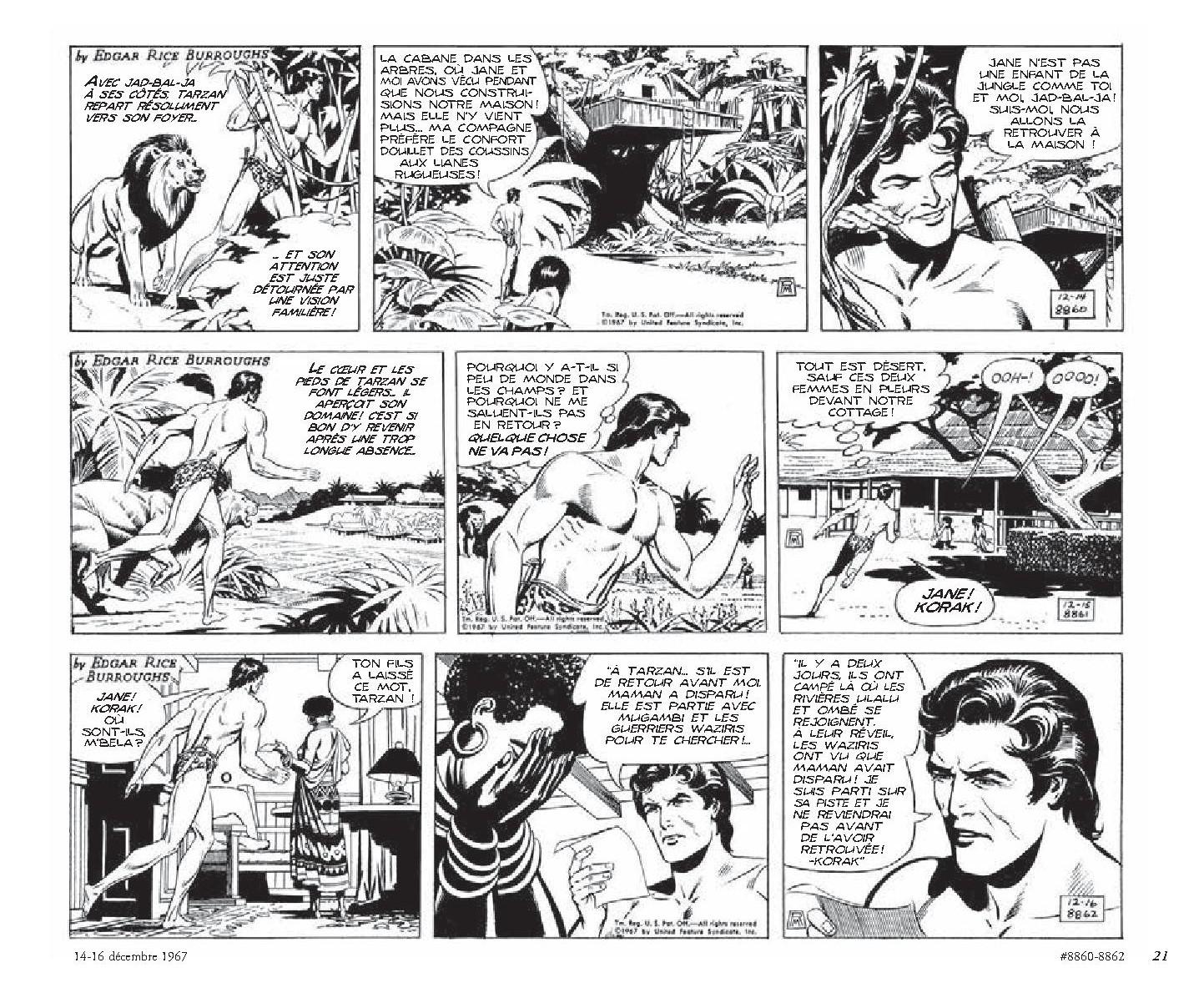 Tarzan _ intégrale Russ Manning newspaper strips _ Tome 1, 1967-1969-3