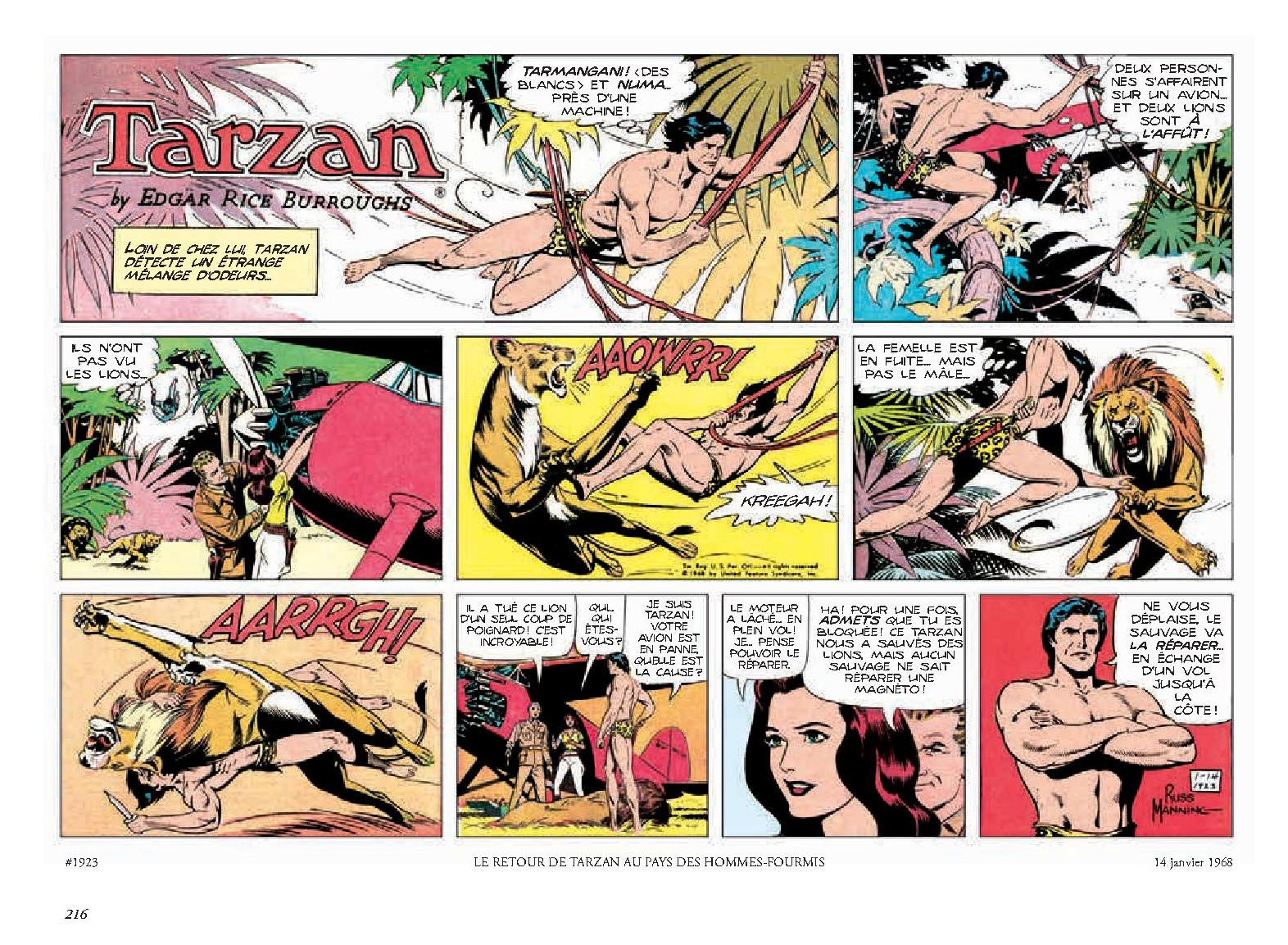 Tarzan _ intégrale Russ Manning newspaper strips _ Tome 1, 1967-1969-4