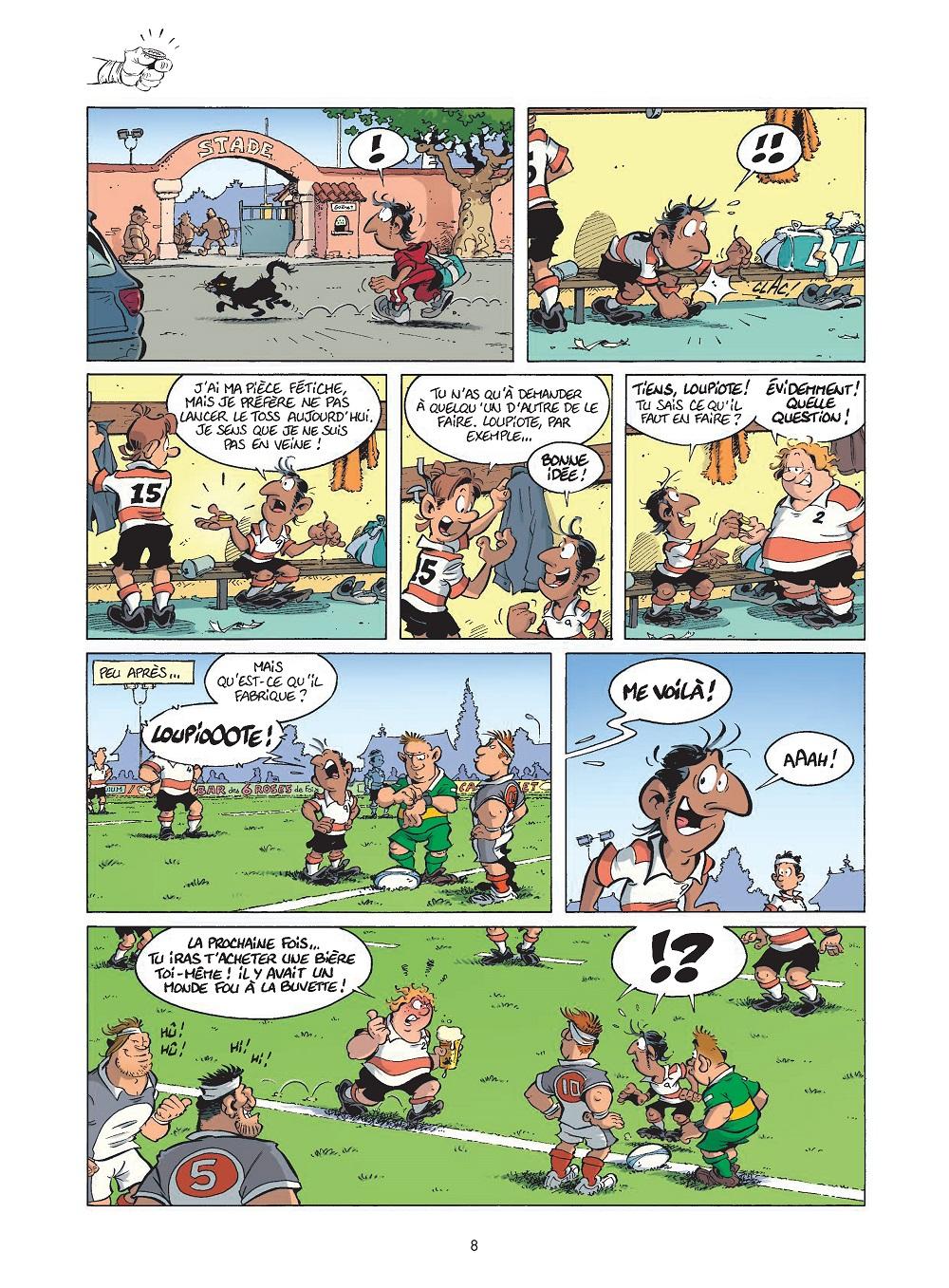 les rugbymen #17 planche 8