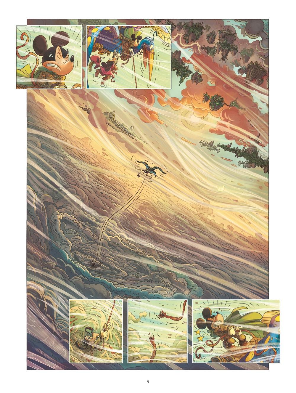 mickey et la terre des anciens planche 1