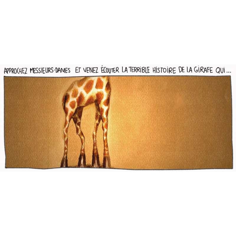 la girafe qui rentrait mal dans sa case planche 1